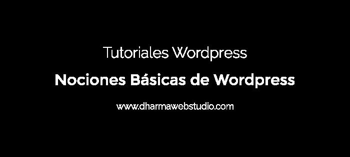 Nociones Básicas en Wordpress