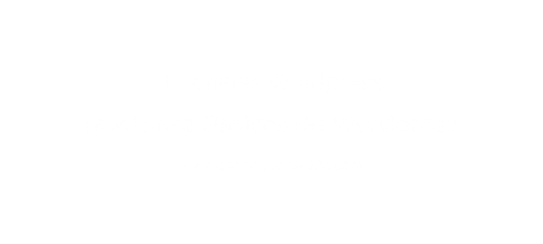 Basic Concepts in Wordpress