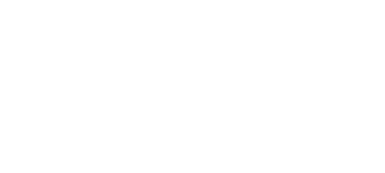¿How to administer product´s options in OpenCart?
