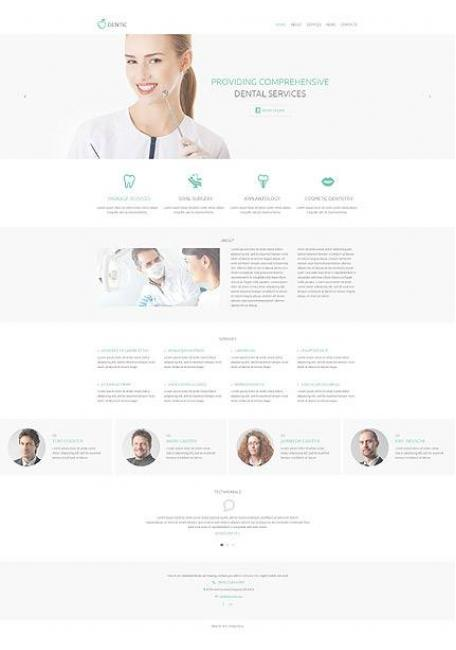 Dentic WordPress Theme for Dentist