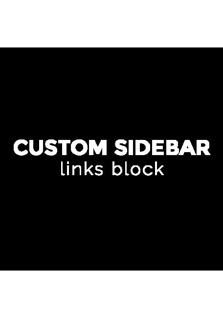 Menú de enlaces personalizado para barra lateral