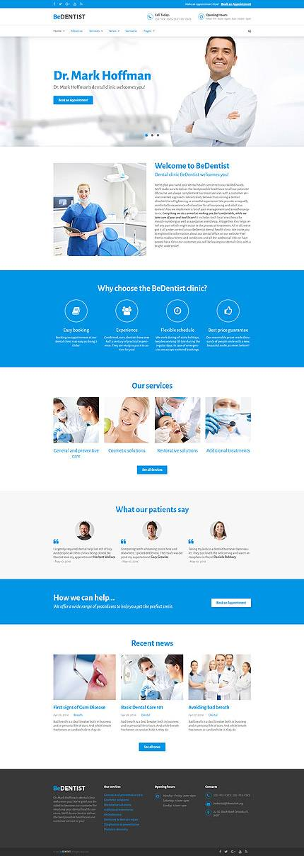 BeDentist - Wordpress Theme for Dentists & Medical