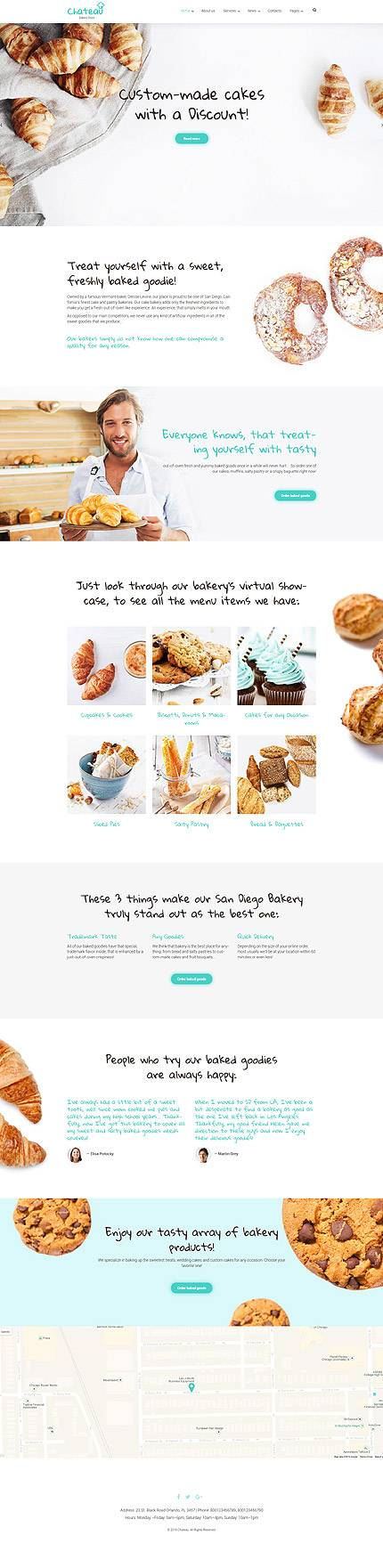 Chateau WordPress Theme for Bakery, Coffee shops and Restaurants