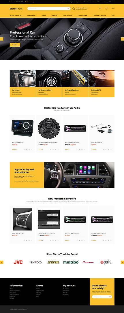 Stereo Truck. Plantilla OpenCart para tiendas de AutoPartes
